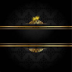 Vector black gold background free vector download (50,618