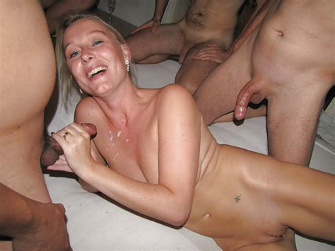 Dutch Blonde Amateur Milf Gangbang With Many Facials 39