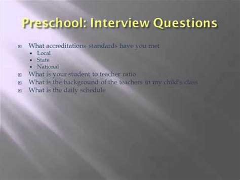 preschool teacher interview questions preschool 6 questions for your preschool 964