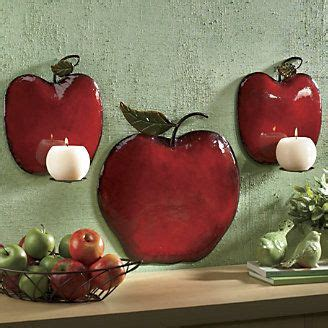 piece apple sconce set  ginnys apple kitchen