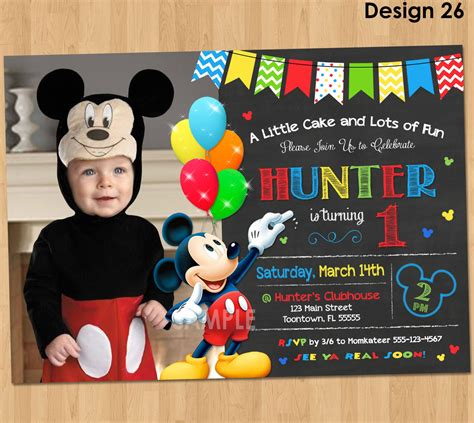mickey mouse invitation birthday mickey mouse st birthday
