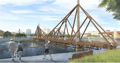 Bridge Timber Island Pedestrian Floating Wood Greenpoint