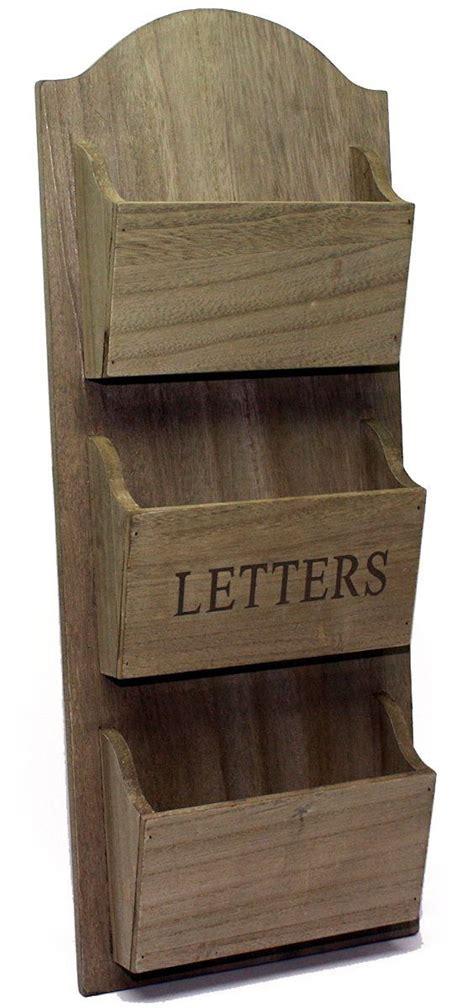kitchen letter organizer rustic wooden wall hanging letter holder rack co 2137