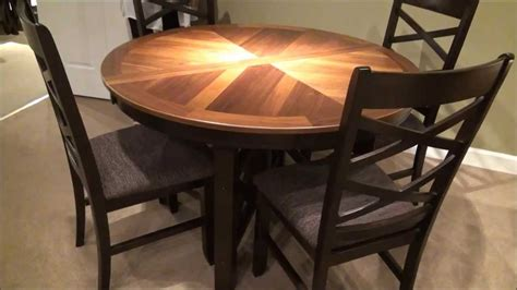 piece bistro roundoval  base table dining room set