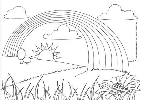 rainbow colouring page
