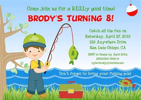 fishing birthday party invitations fish ocean sea kids