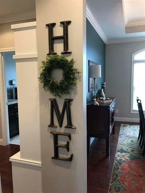 Maison Home Decor by Home Decor Letter Decor H O M E Use A Wreath As The O