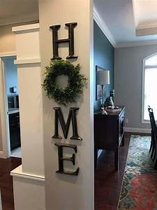 home decor letter decor h o m e use a wreath as the o With letter signs home decor