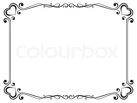 kalligraphie ornamentalen dekorativen rahmen mit herz