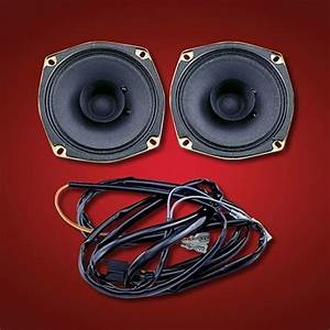Show Chrome  Big Bike Parts  Rear Speaker Kit With Wiring Harness