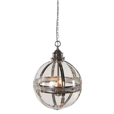 glass ball silver ceiling light furniture la maison chic