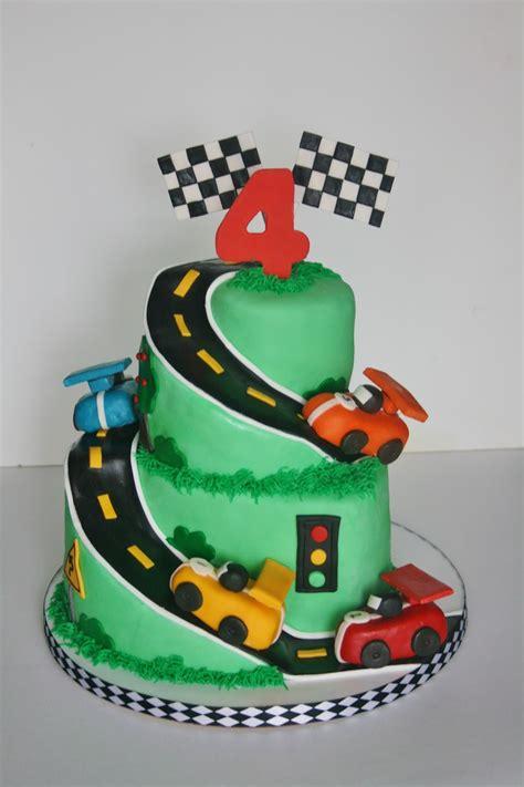 sweet race car cake