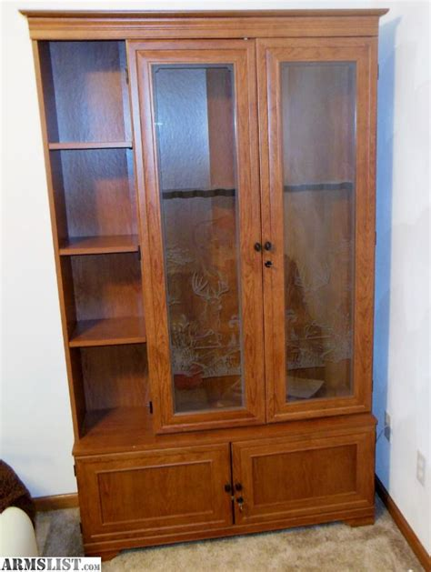 Gun Cabinets For Sale by Armslist For Sale Wood Gun Cabinet For Sale