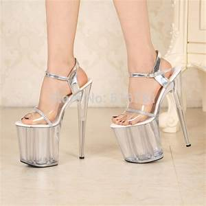 20 Cm High Heels : 2015 sexy 20cm temptation crystal sandals ultra high thin ~ Lateststills.com Haus und Dekorationen