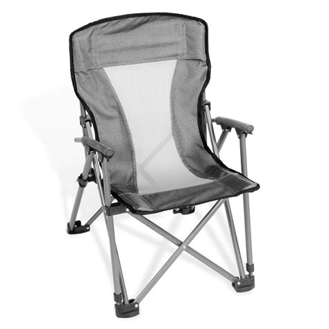 folding arm chair with padded arms and backrest with