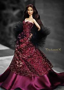 Barbie nights in maroon satin | Barbies | Pinterest ...