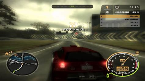 renault clio v6 nfs carbon need for speed most wanted renault clio v6 youtube