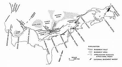 Ouachita Belt Orogenic Appalachian Orogeny Map Geology