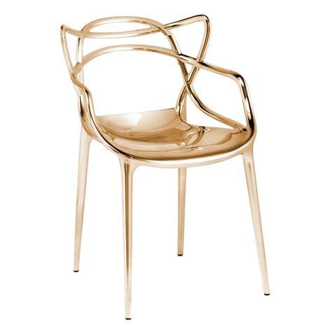 chaise master starck masters chaise métallisée kartell voltex