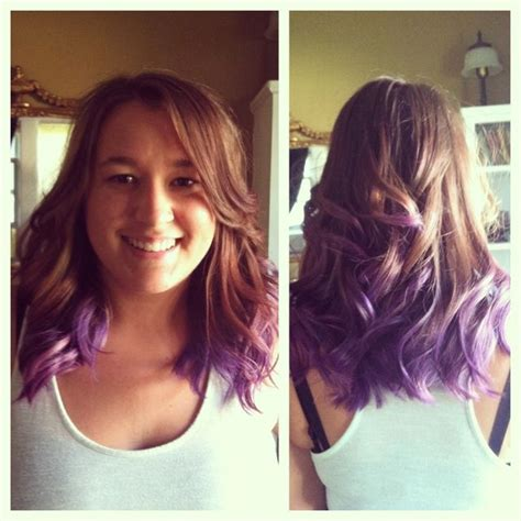 Brown Hair With Tips by Purple Tipped Brown Hair Brown Hair With Purple
