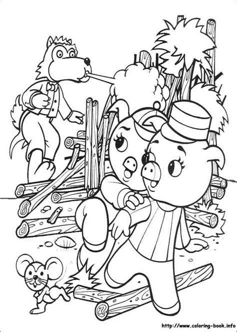 The three little pigs (With images) Coloring pages Kids