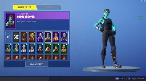 fortnite account  renegade raider ghoul trooperand