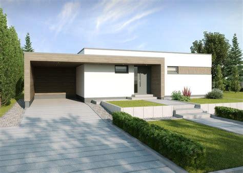 Moderne Häuser Mit Carport by Fertighaus Bungalow Modern Mit Flachdach Architektur