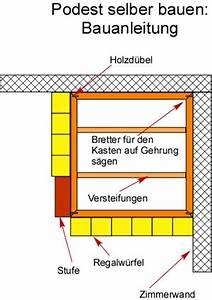 Podest Bauen Anleitung : podest selber bauen anleitung mit bauanleitung und bauplan ~ Lizthompson.info Haus und Dekorationen