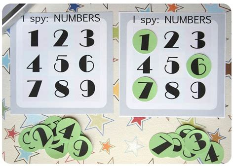 Diy Travel Game I Spy Numbers 280813  I Try To