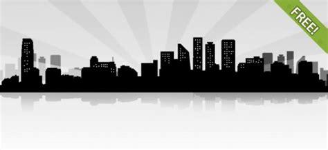 city landscape siluet psd file