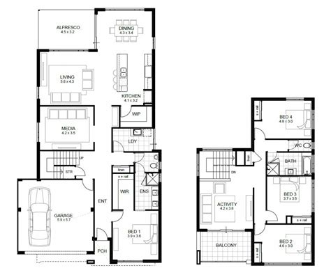 4 bedroom floor plans 2 free 4 bedroom house plans and designs unique two