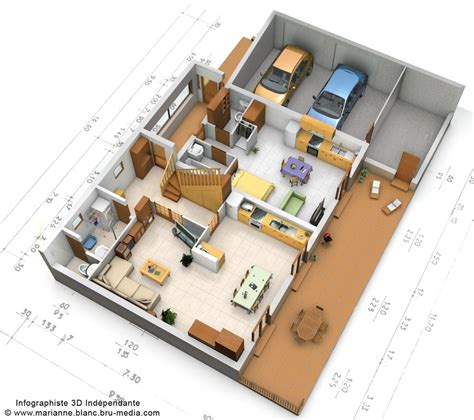 plan 3d maison rdc by meryana on deviantart