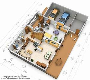 plan 3d maison rdc by meryana on deviantart With simulation construction maison 3d gratuit
