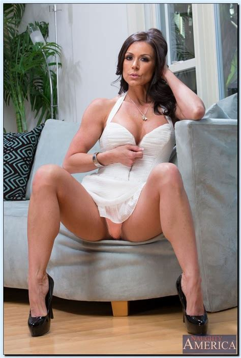 Kendra Lust screws her boy toy in bed in a white dress (Naughty America - 16 Pictures)