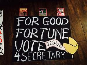 High School poster ideas for elections!!!! | Running for ...
