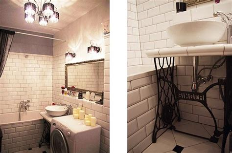 salle de bain retro photo salle de bains r 233 tro chic la vie deco