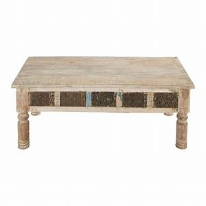Table Basse Bois Maison Du Monde : table basse indienne bois recycl karma maisons du monde ~ Teatrodelosmanantiales.com Idées de Décoration