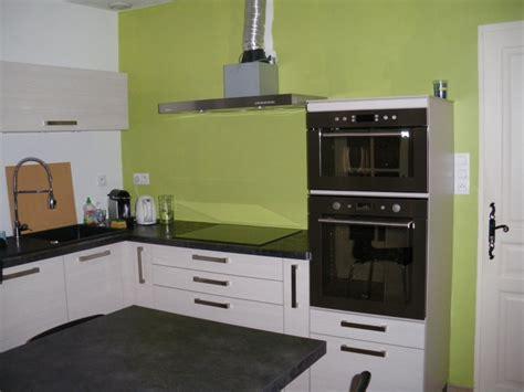 couleur mur cuisine blanche decoration cuisine noir et