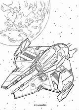 Coloring Obi Spaceship Wan Wars Star Pages Kenobi Hellokids Colouring Print Ship sketch template