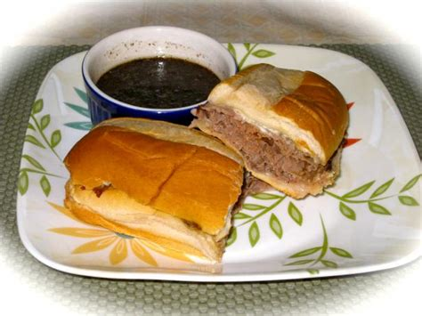 au jus recipe roast beef dip sandwich with herbed garlic au jus recipe