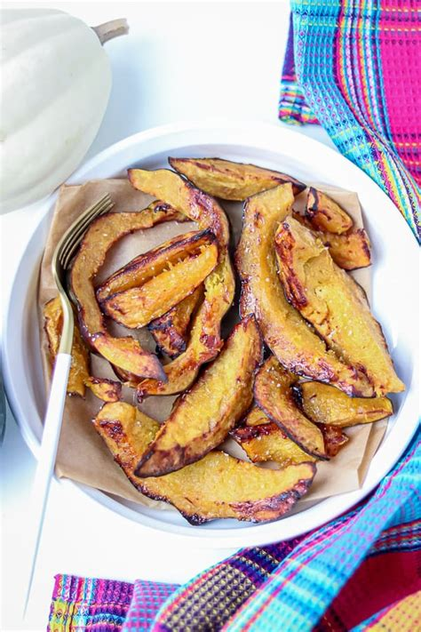 squash acorn roasted fryer air slices recipe recipes savorythoughts cooking savory dinner