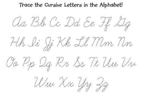 cursive alphabet chart printable alphabetworksheetsfreecom