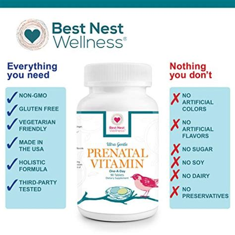 Best Prenatal Vitamin Buy Best Nest Prenatal Vitamins Once Daily With Whole
