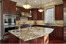 Kitchen Cabinets And Counters Kitchen With Mahogany Cabinets And St Cecilia Granite Countertops