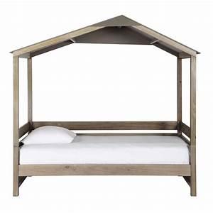 Cabane Lit Enfant : lit cabane enfant 90 x 190 cm en bois forest maisons du monde ~ Melissatoandfro.com Idées de Décoration