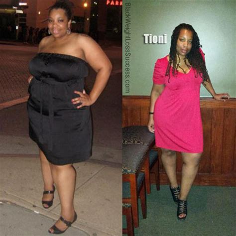 tioni lost  pounds black weight loss success
