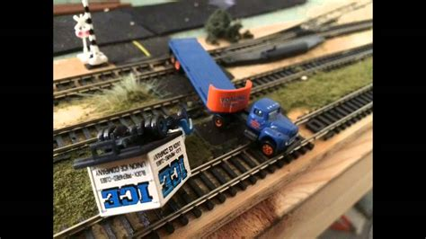 Massive Csx N Scale Train Crash