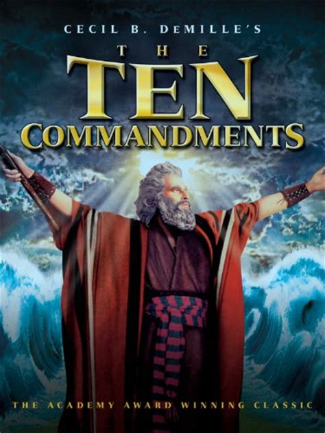 amazoncom  ten commandments charlton heston yul