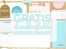 Gratis weekplanner voor docenten! LES and more