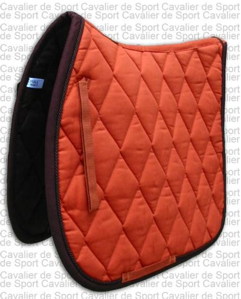 tapis de selle br event burnt brick orange brique dressage seller